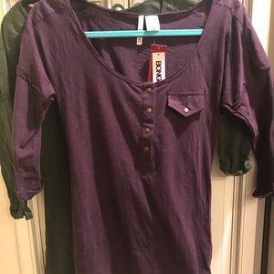 Set of 2 Bongo 3/4 Sleeve Shirts size L  NWT
